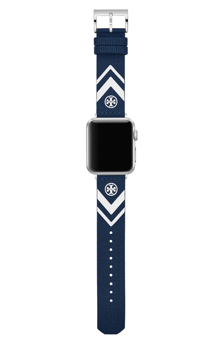 토리버치 Tory Burch The Chevron Woven Strap for Apple Watch, 38mmu002F40mm,blue