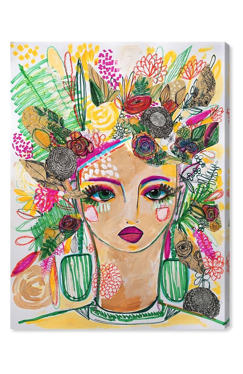 OLIVER GAL Spring Goddess Canvas Wall Art, Main, color, BLACK WHITE