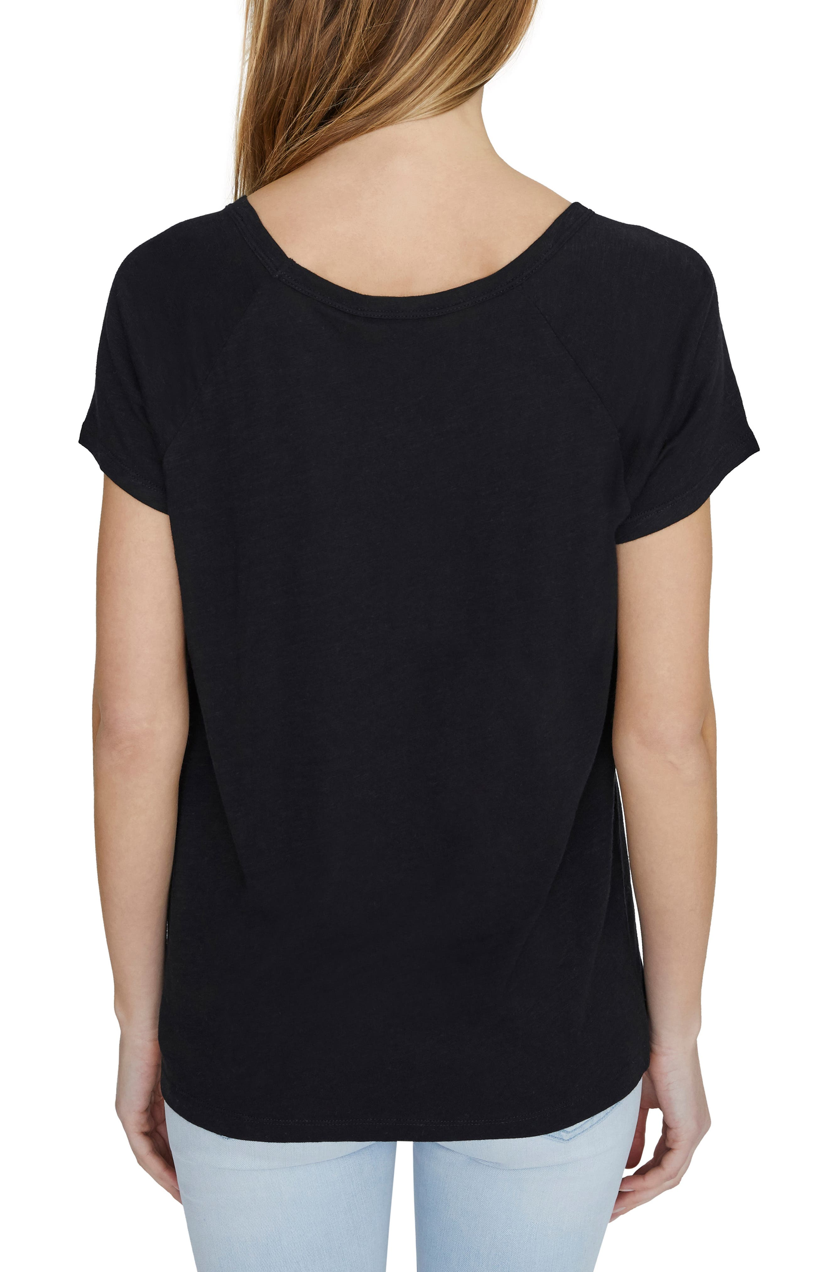 ,                             Sunny Days Twist Tee,                             Alternate thumbnail 2, color,                             BLACK