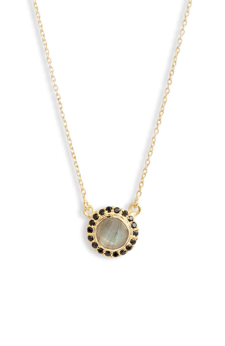 COLLECTIONS BY JOYA Celebration Stone Pendant Necklace, Main, color, LABRADORITE