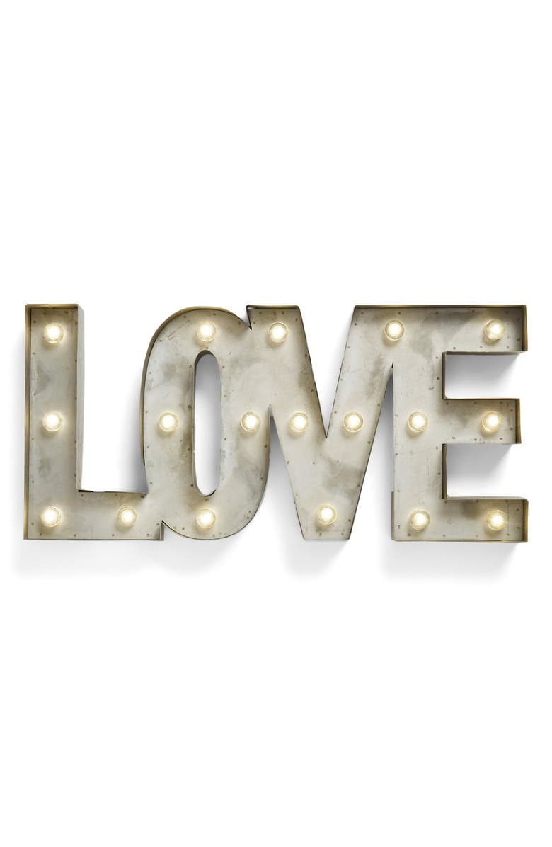 CREATIVE CO-OP 'LOVE' LED Marquee Sign, Main, color, 040