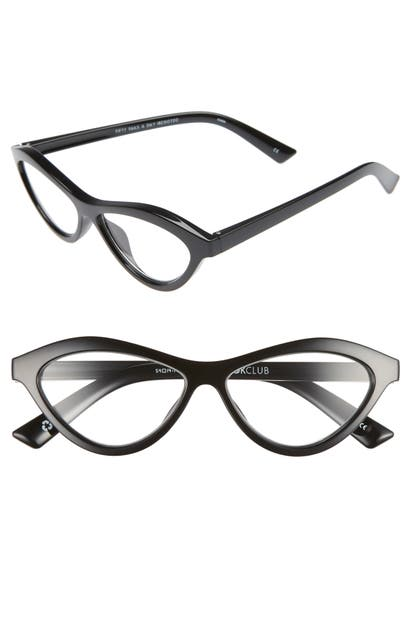 The Book Club FIFTY FAILS A DAY 54MM READING GLASSES - BLACK MARKER
