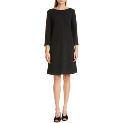 Lafayette 148 New York Lotus Punto Milano Dress, Black
