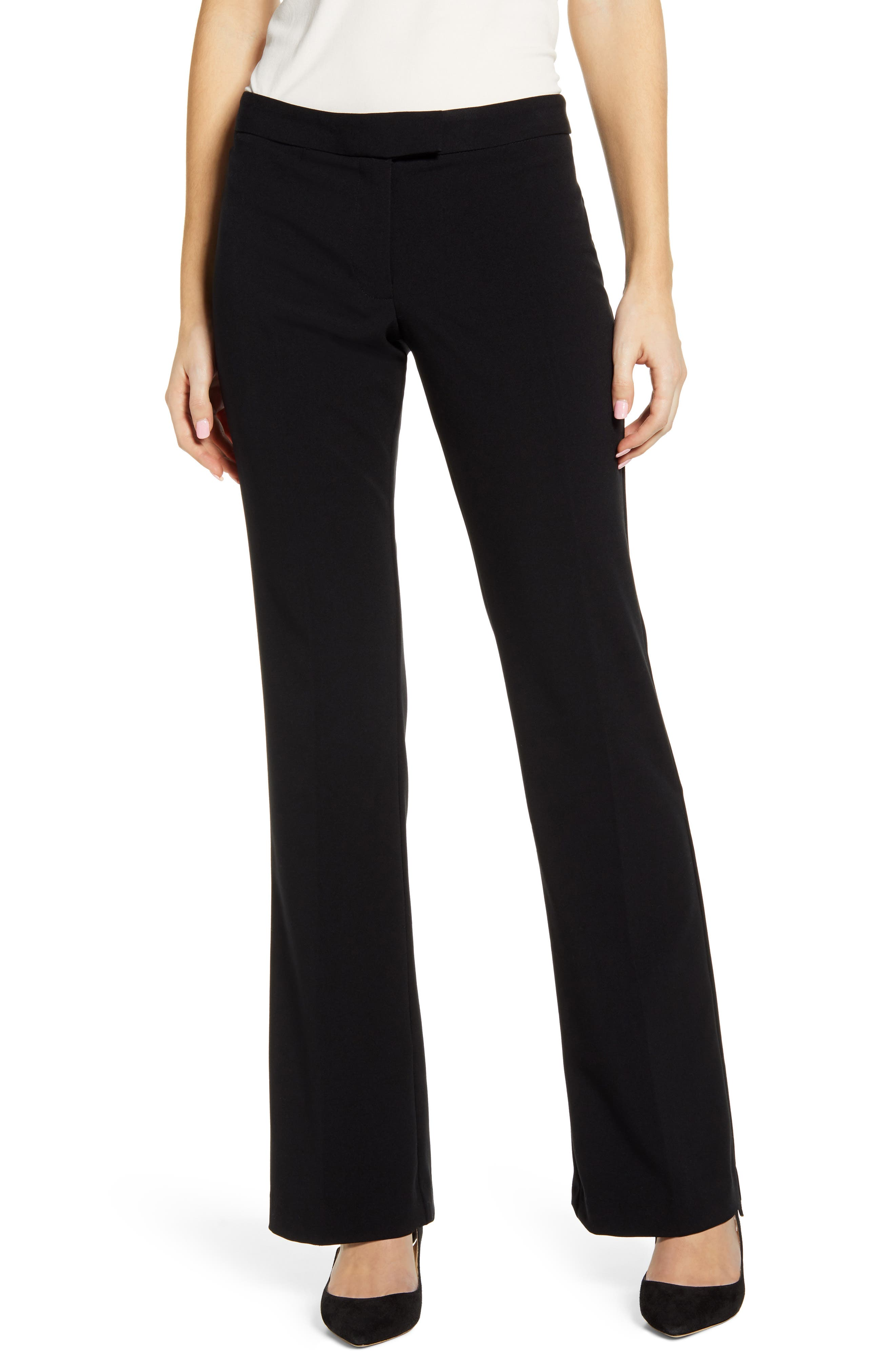 Women's Vince Camuto Nina Wide Leg Pants,  16 - Black