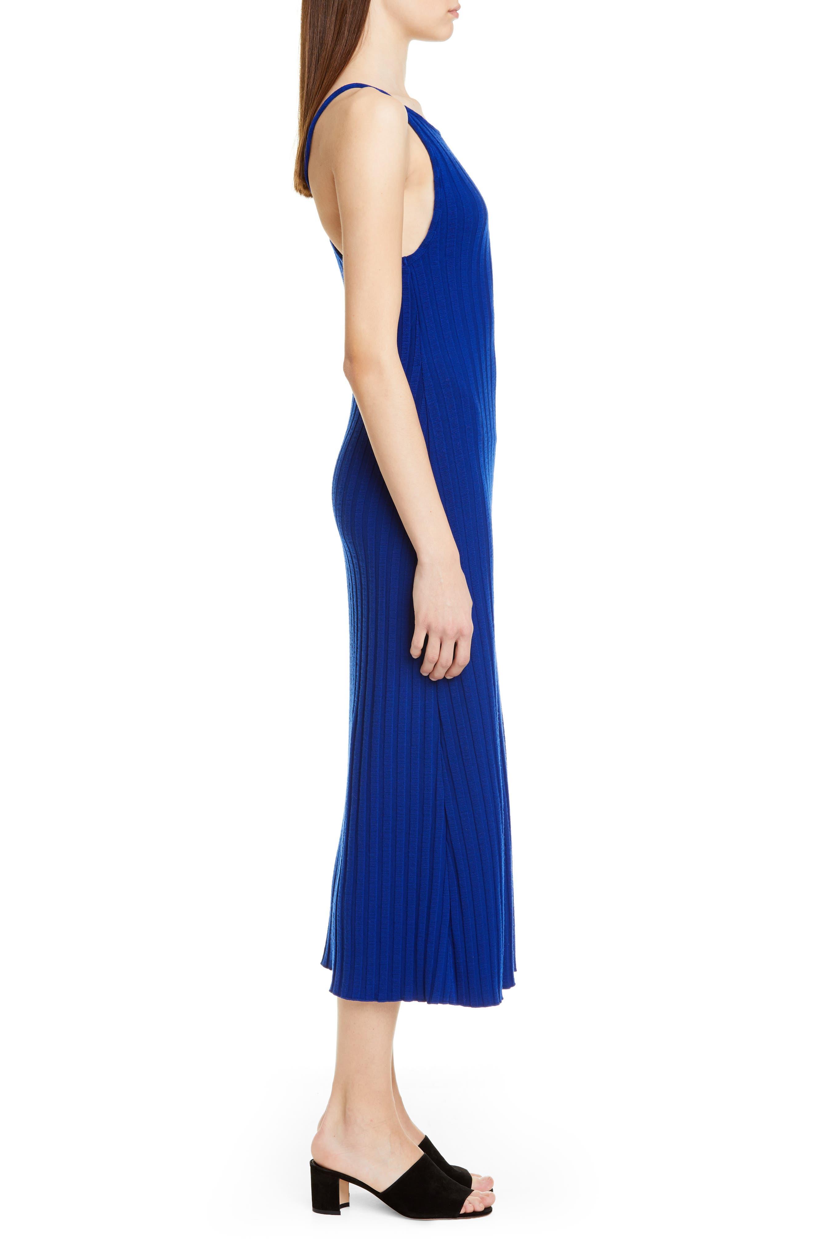 ,                             Matomi Rib Dress,                             Alternate thumbnail 3, color,                             ELECTRIC BLUE