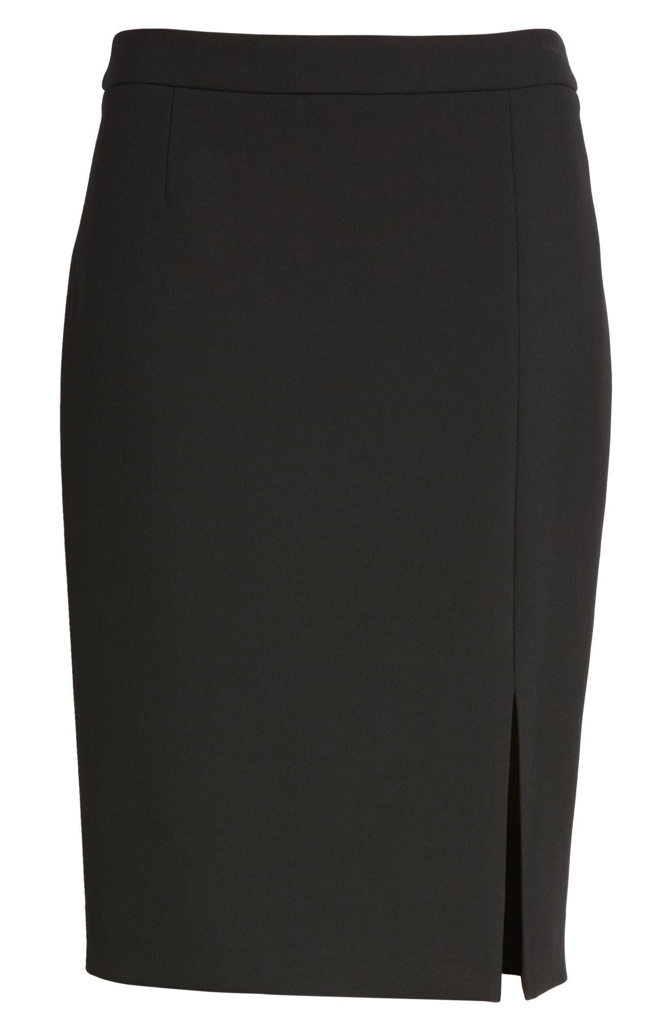 cd8acf7296 BOSS Volania Ponte Slit Pencil Skirt | Nordstrom