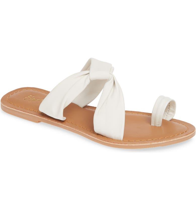SEYCHELLES Mint Condition Slide Sandal, Main, color, WHITE LEATHER