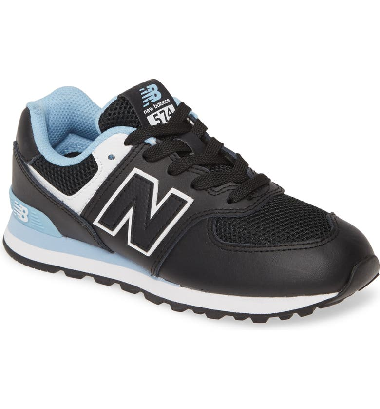 NEW BALANCE 574 Summer Sport Sneaker, Main, color, BLACK/ SUMMER SKY