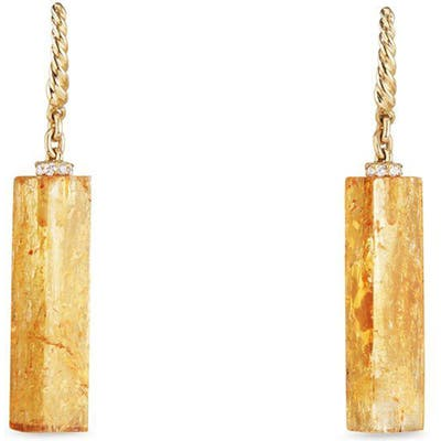 David Yurman Bijoux Fine Bead And Chain Earrings With Imperial Topaz