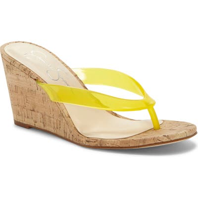 Jessica Simpson Coyrie Wedge Flip Flop- Yellow