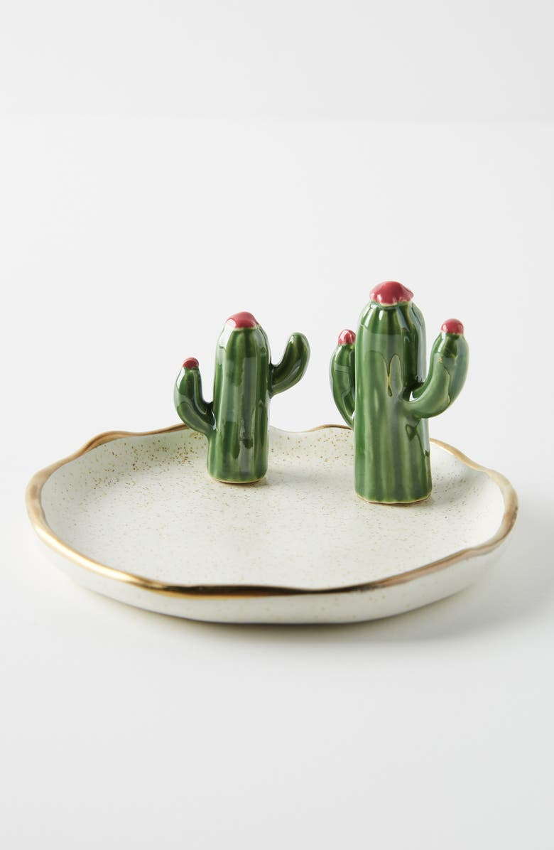 ANTHROPOLOGIE Cactus Trinket Tray, Main, color, 100