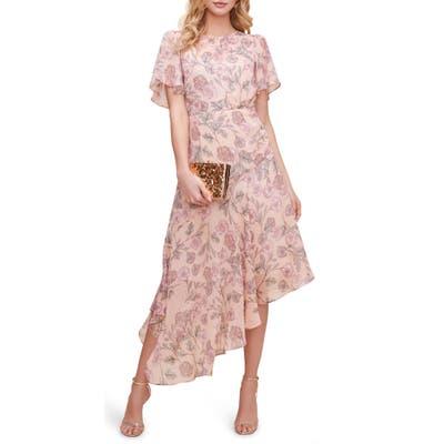 Astr The Label Floral Print Dress, Pink