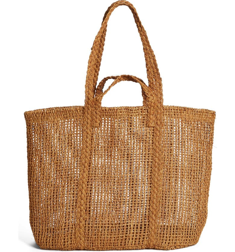 MADEWELL Straw Beach Tote, Main, color, 250