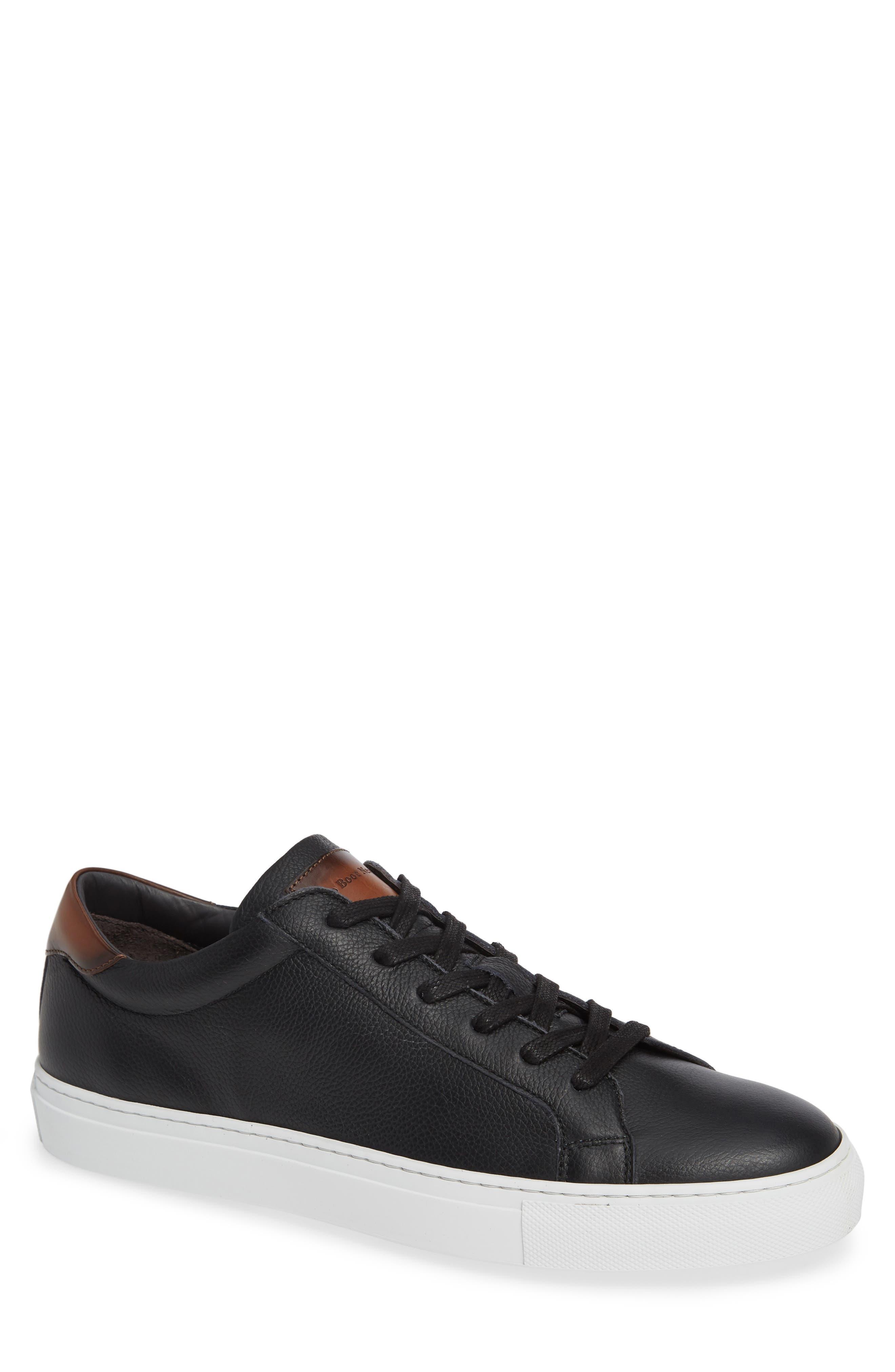 Knox Low Top Sneaker, Main, color, BLACK/ TAN LEATHER