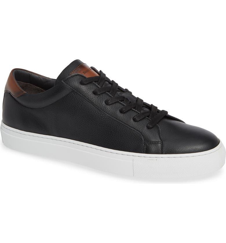 TO BOOT NEW YORK Knox Low Top Sneaker, Main, color, BLACK/ TAN LEATHER