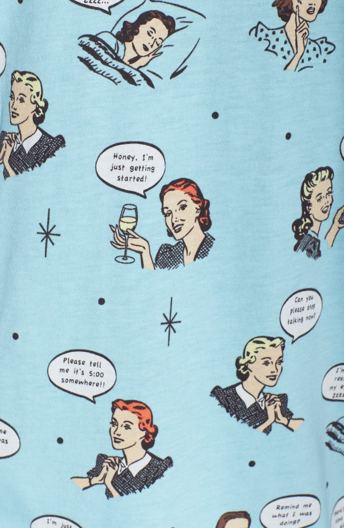 ,                             Print Jersey Pajamas,                             Alternate thumbnail 28, color,                             440