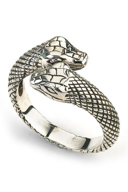 Image of Samuel B Jewelry 18K Gold & Sterling Silver Snake Bypass Ring
