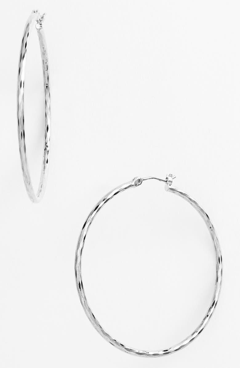 NORDSTROM Harlequin Facet Hoop Earrings, Main, color, 040