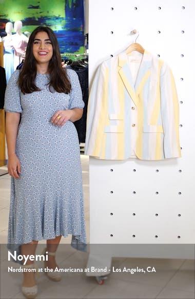 Stripe Silk & Linen Blazer, sales video thumbnail