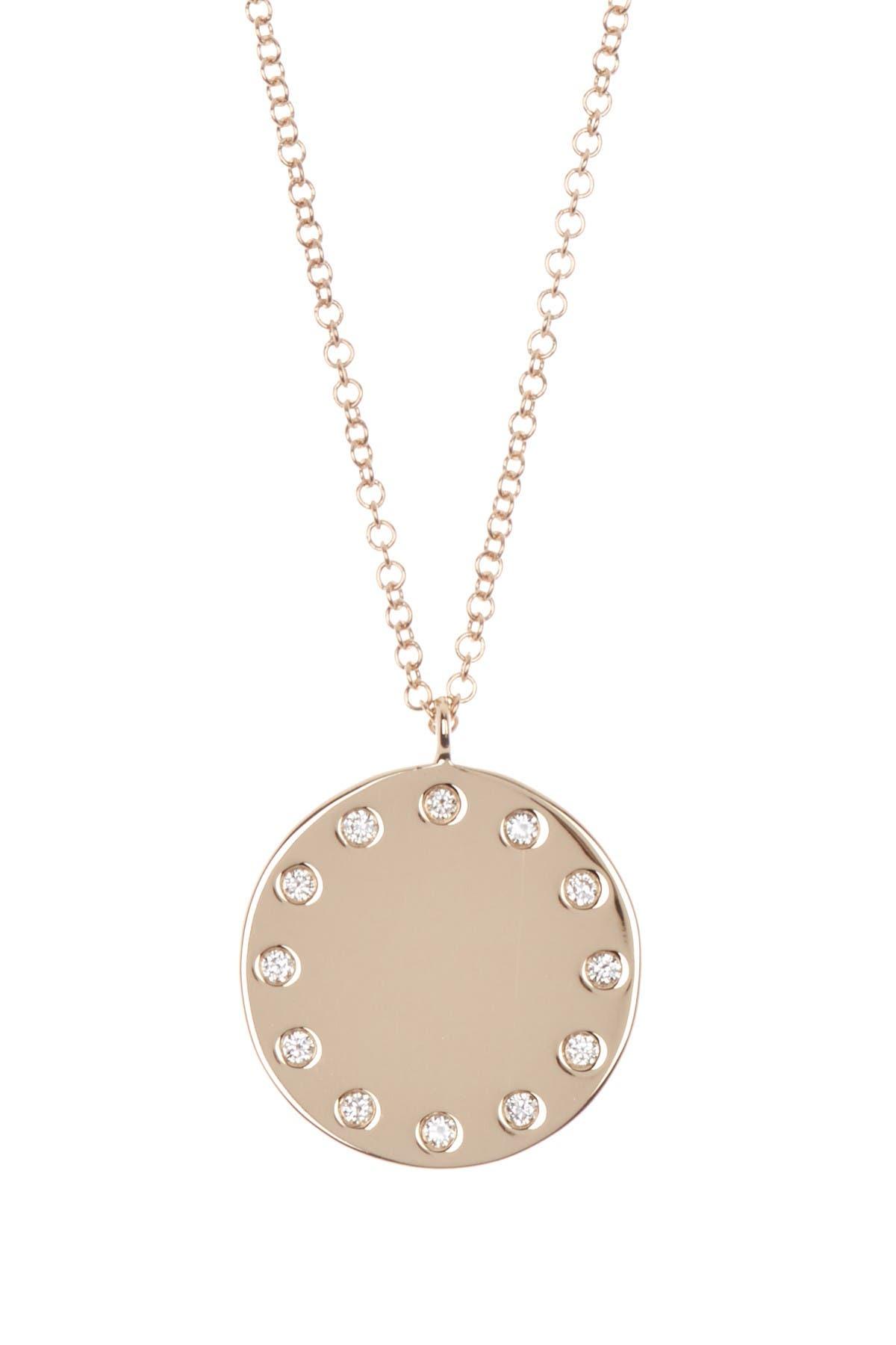 Image of Ron Hami 14K Gold Diamond Disc Pendant Necklace - 0.09 ctw