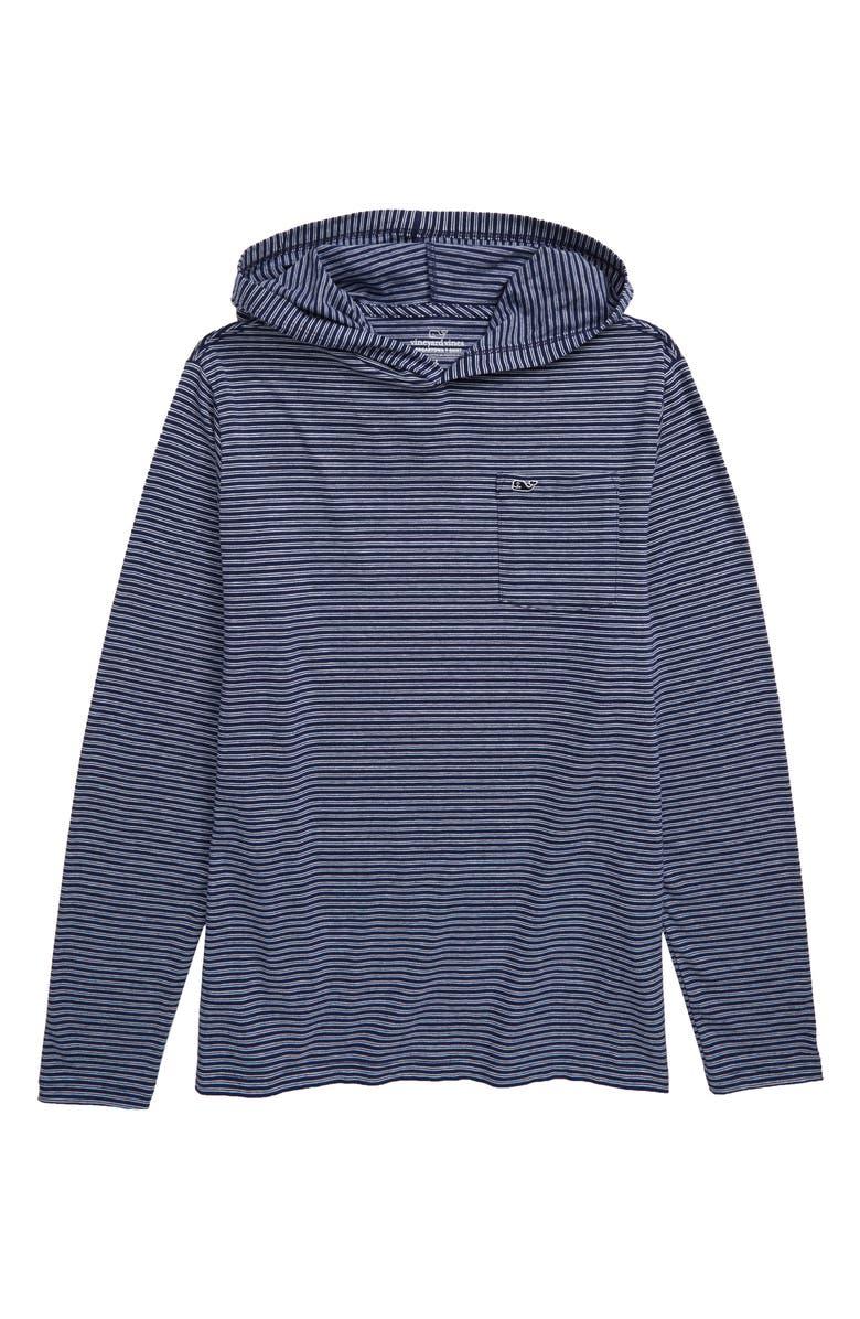 VINEYARD VINES Edgartown Stripe Hooded Pullover, Main, color, 402