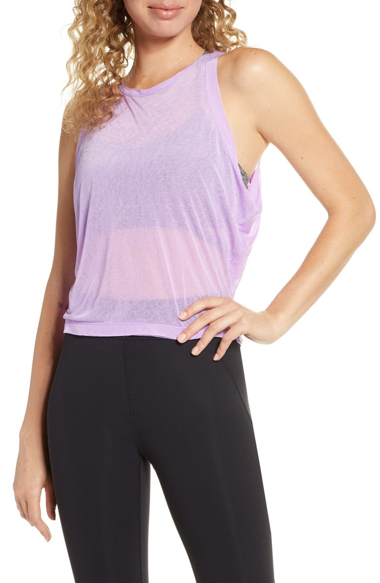 FREE PEOPLE MOVEMENT Life's a Wave Tank, Main, color, LAVENDER