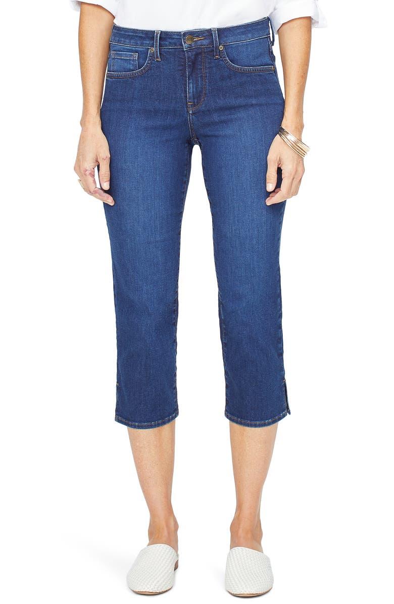 NYDJ Side Slit Capri Jeans, Main, color, COOPER