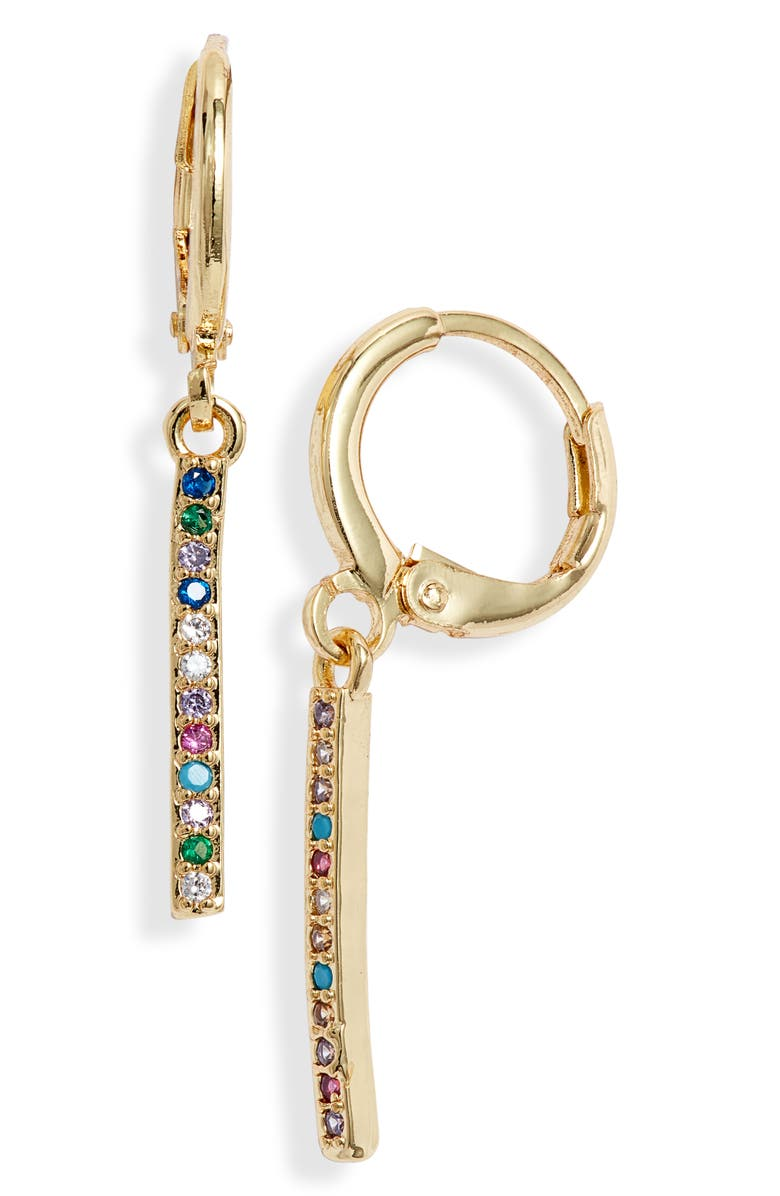 8 OTHER REASONS Your Majesty Charm Hoops, Main, color, 710