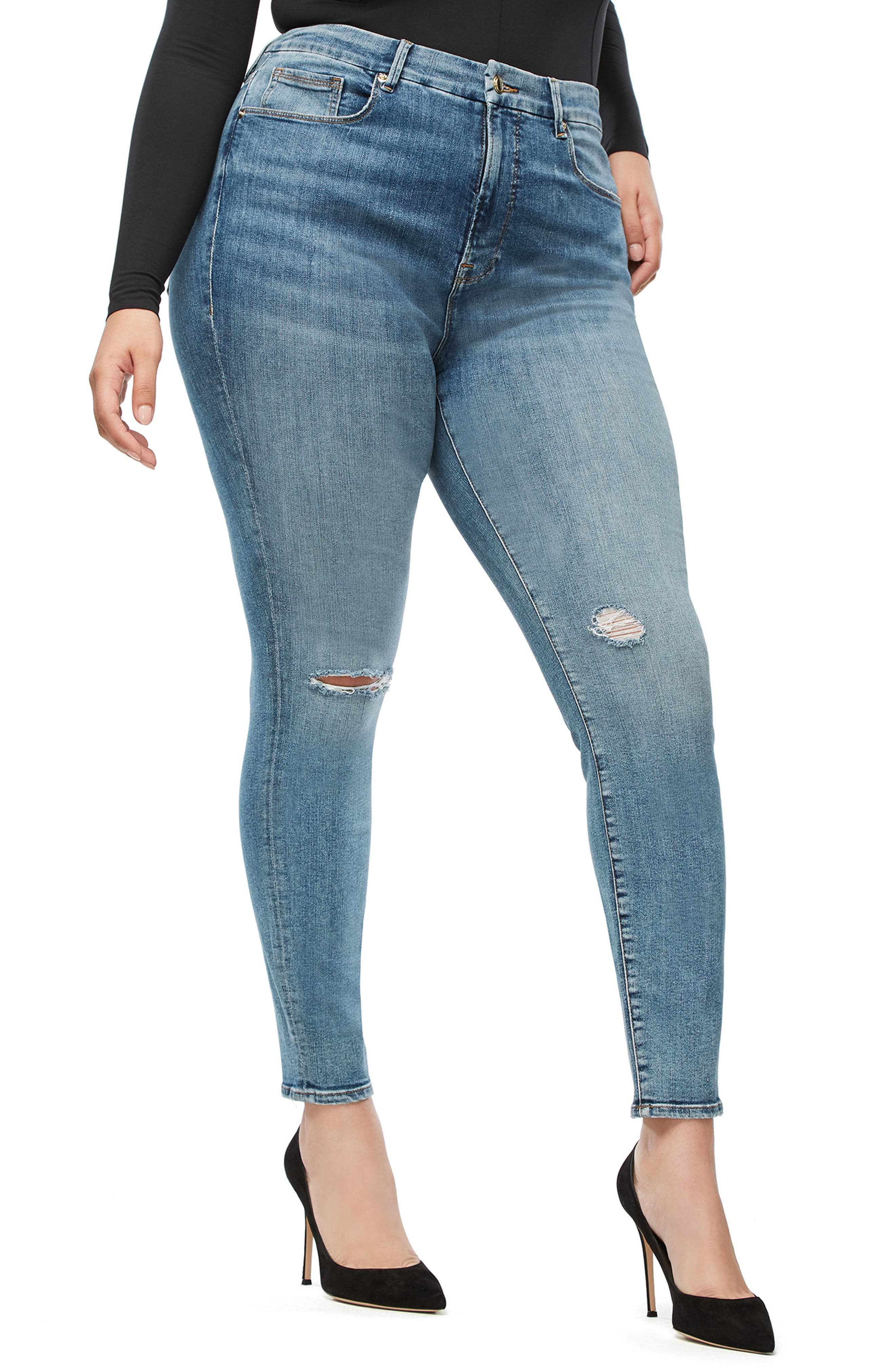 ,                             Good Legs High Waist Skinny Jeans,                             Alternate thumbnail 52, color,                             407
