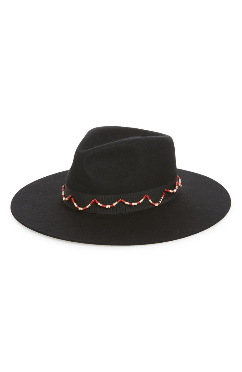 BRIXTON Tillman Felt Fedora, Main, color, BLACK