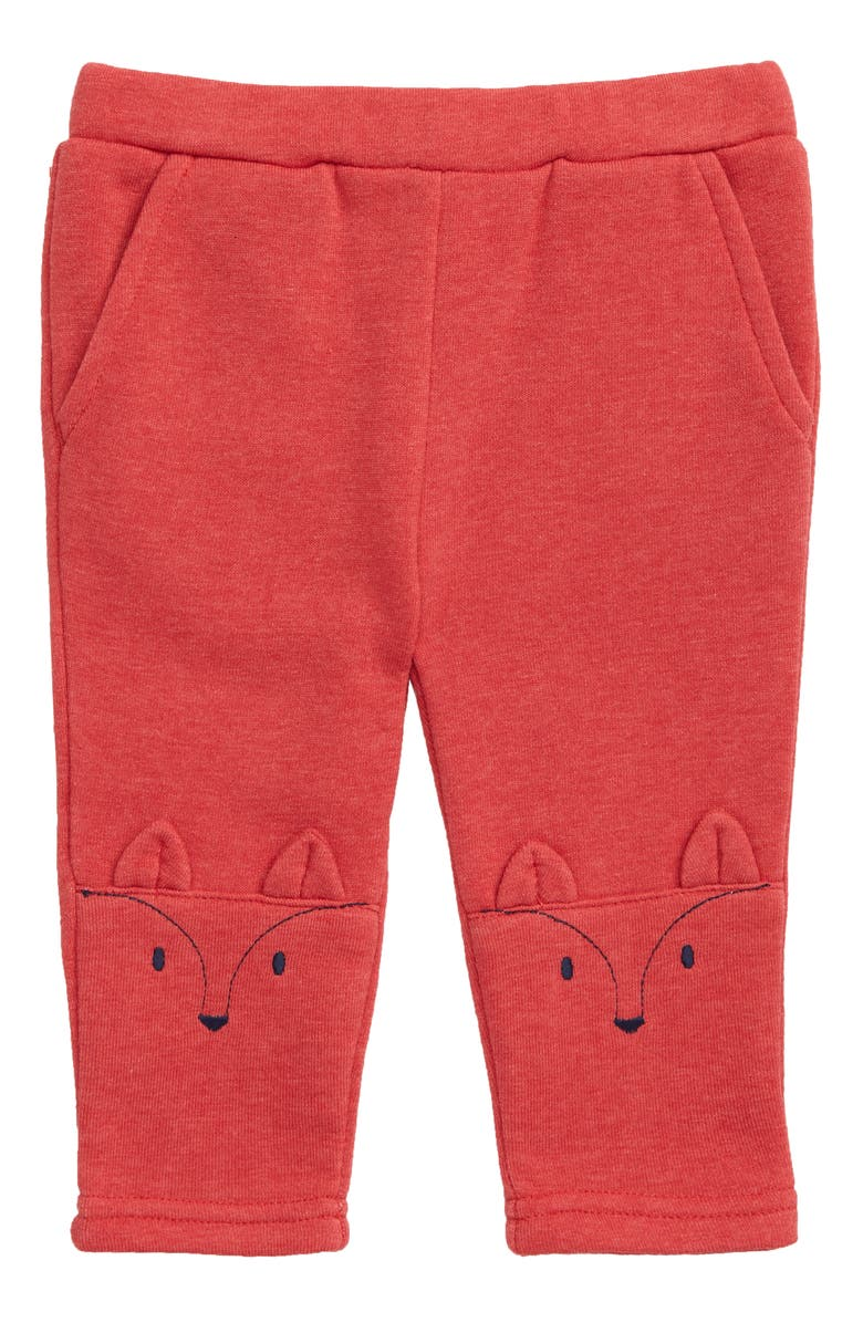 MINI BODEN Fun Knee Knit Pants, Main, color, RED POPPADEW/ RED MARL