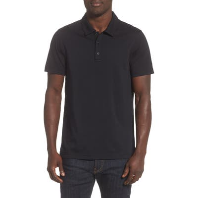 Reigning Champ Solid Jersey Polo, Black