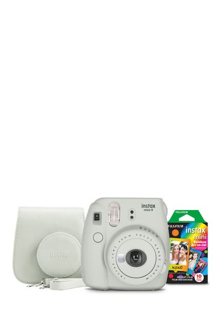 Image of INSTAX MINI BY FUJIFILM Smokey White Instax Mini 9 Camera Bundle 3-Piece Set