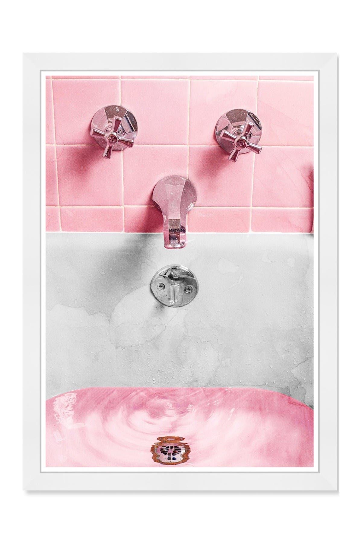 Wynwood Studio Bubblegum Bath Pink Framed Wall Art Nordstrom Rack
