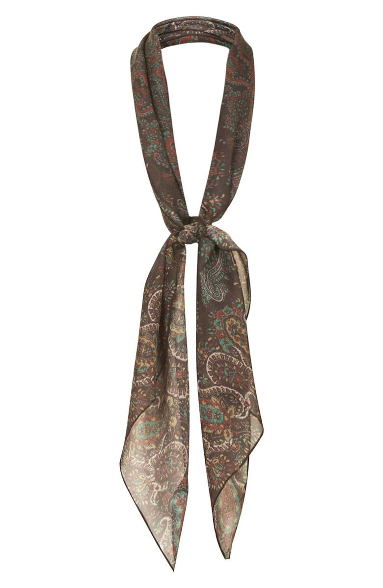 TOPSHOP Kate Moss for Topshop Paisley Scarf, Main, color, 200