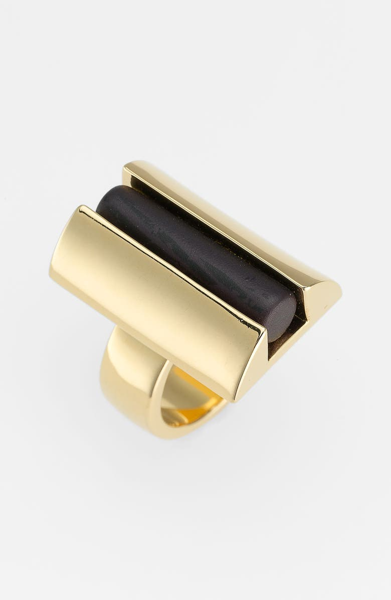 TORY BURCH 'Column Resin' Statement Ring, Main, color, 001