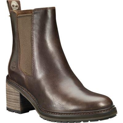 Timberland Sienna Waterproof Block Heel Chelsea Boot, Brown