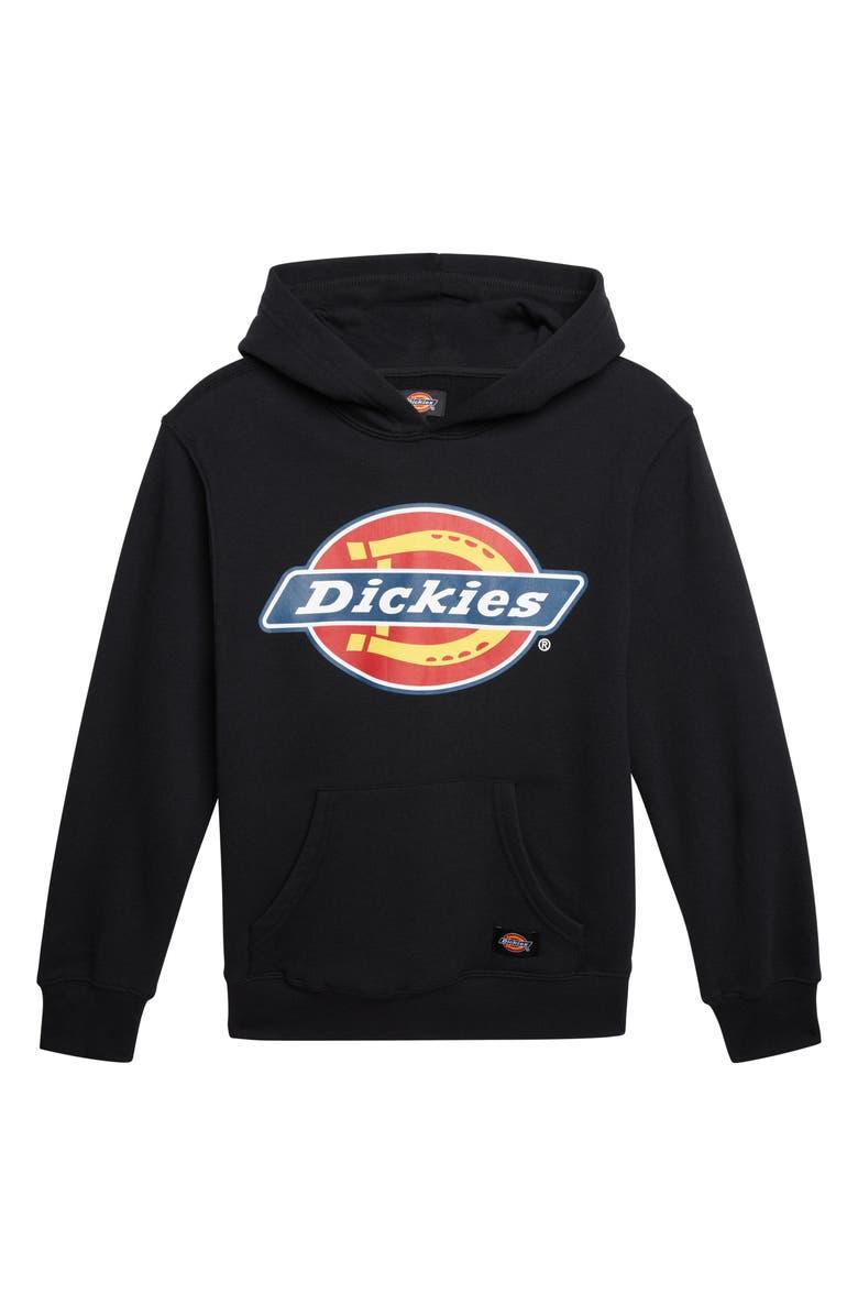 DICKIES Logo Hoodie, Main, color, BLACK