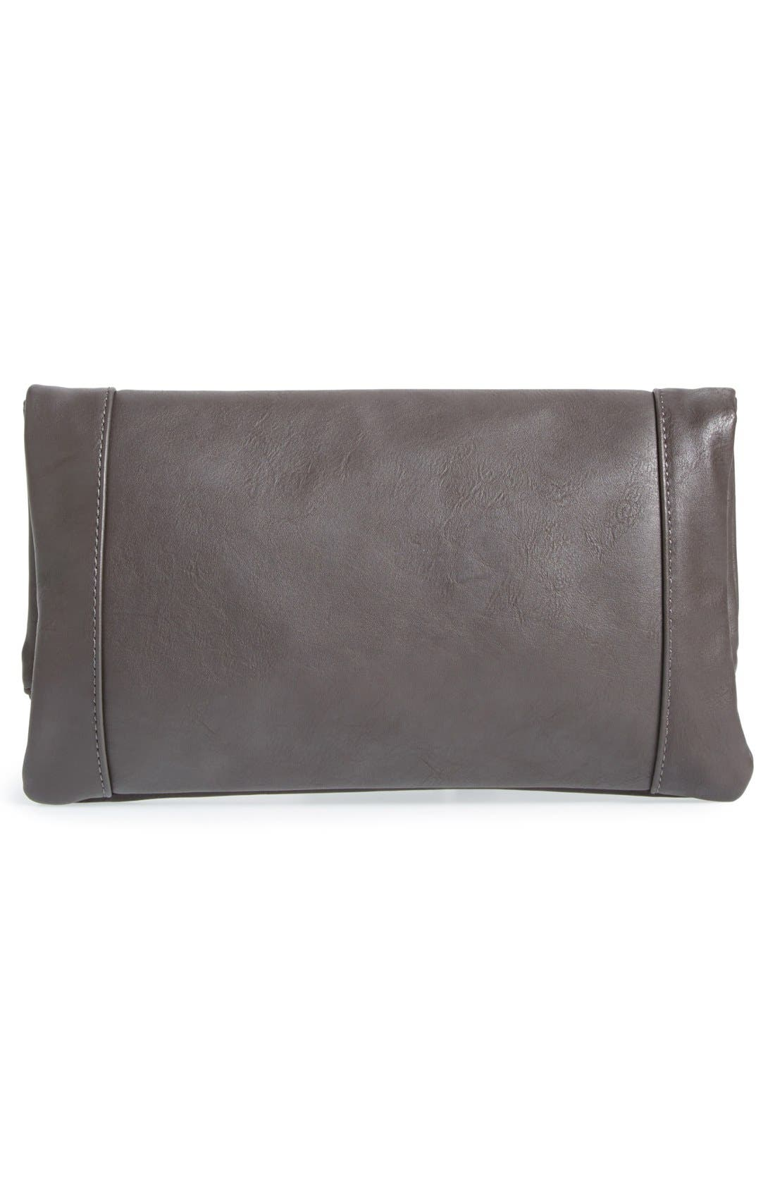 ,                             Marlena Faux Leather Foldover Clutch,                             Alternate thumbnail 23, color,                             020