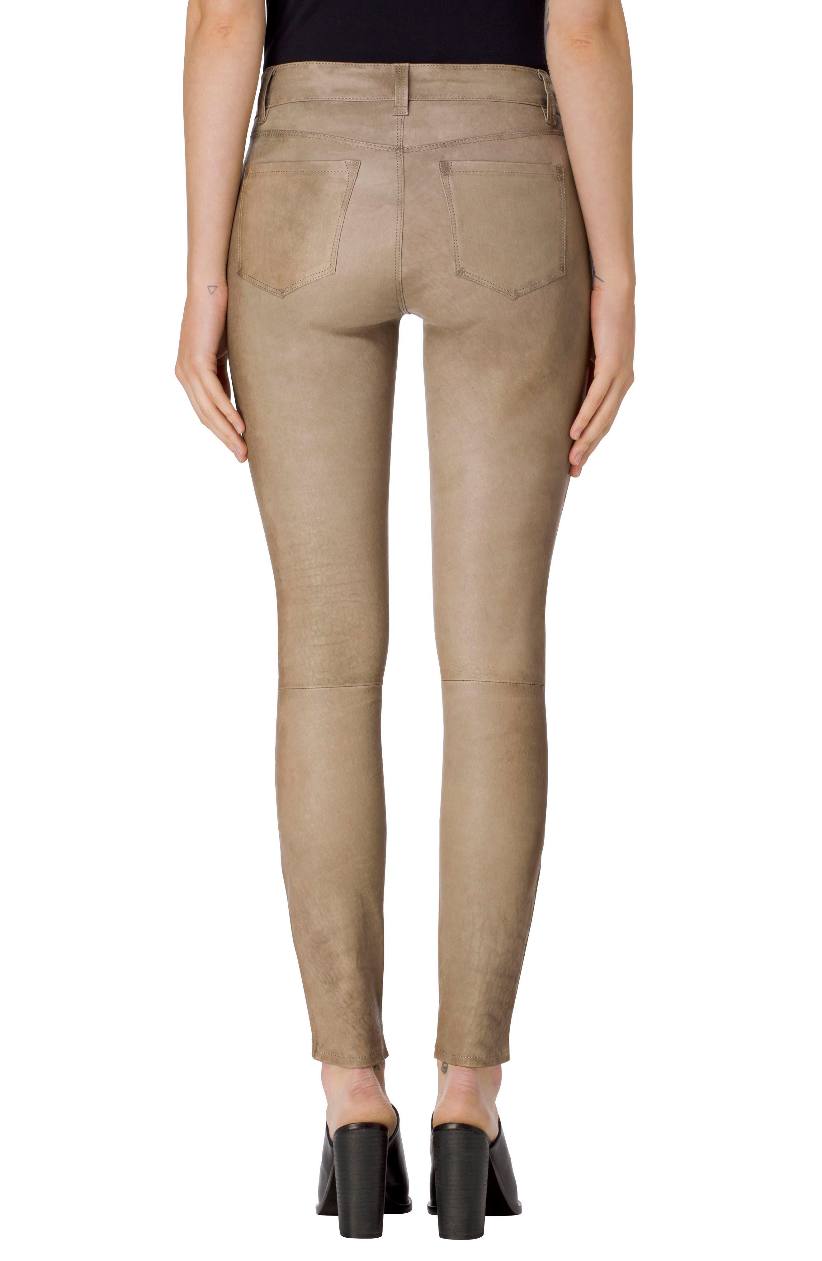 ,                             '8001' Lambskin Leather Pants,                             Alternate thumbnail 34, color,                             011