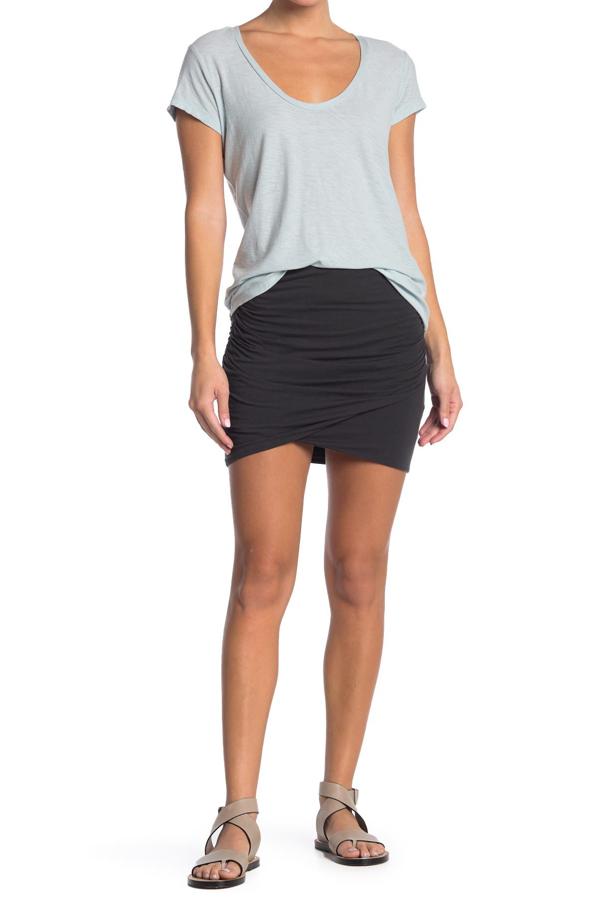 Image of James Perse Wrap Bodycon Skirt