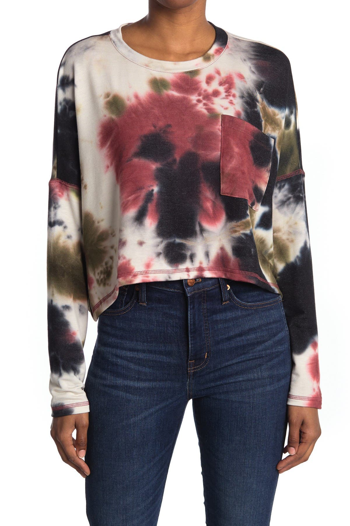 Image of Abound Tie Dye Pocket Top