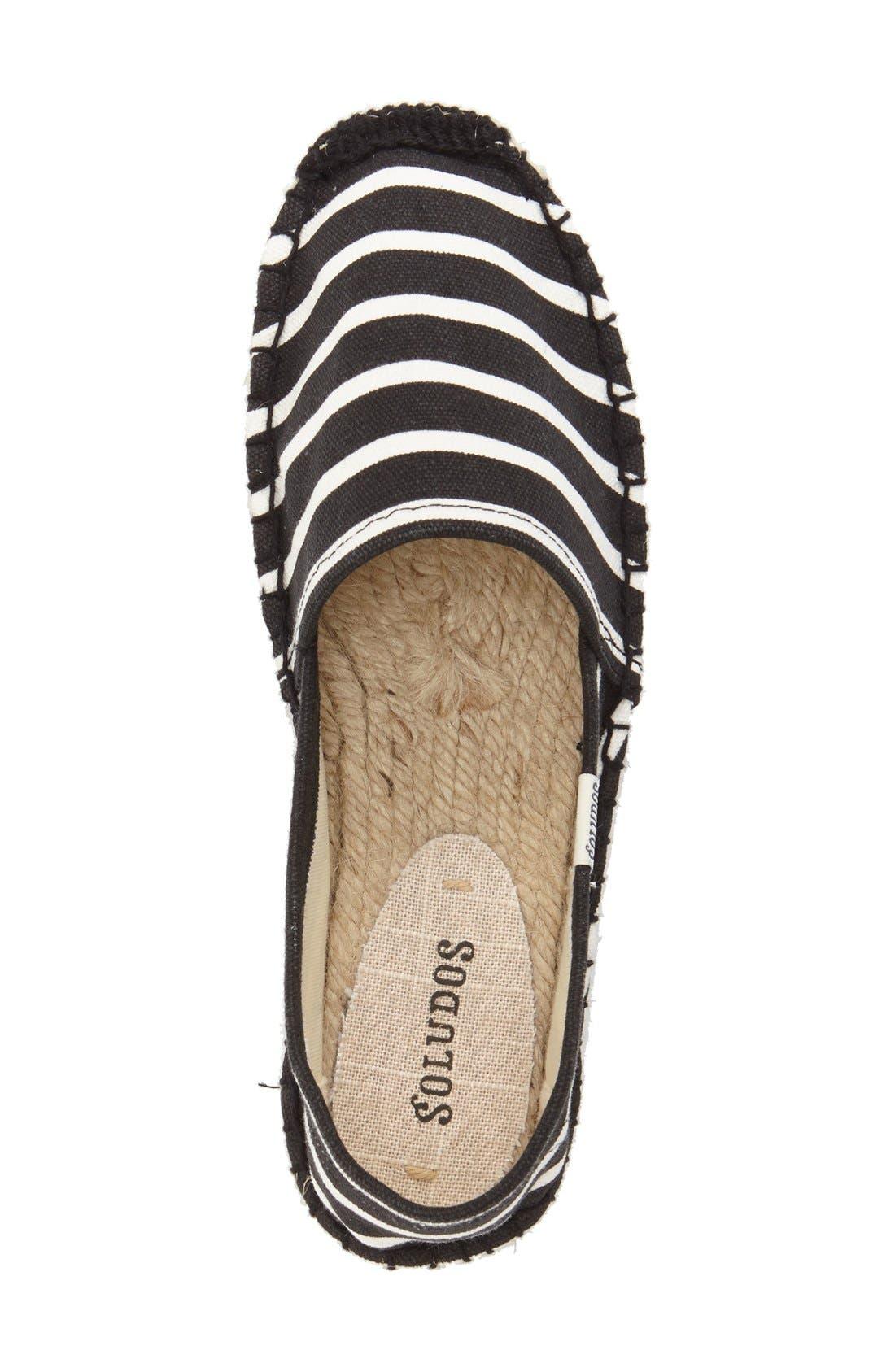 ,                             'Classic Stripe' Espadrille Slip-On,                             Alternate thumbnail 4, color,                             003