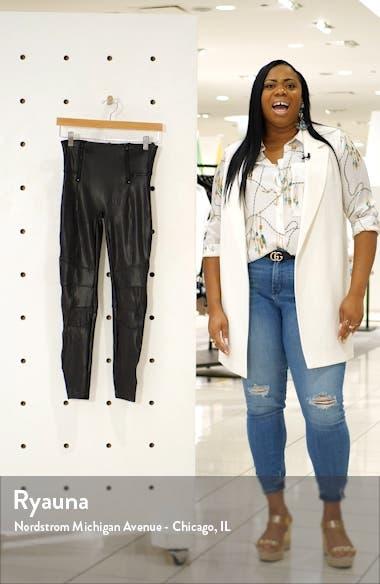 Hip-Zip Faux Leather Leggings, sales video thumbnail