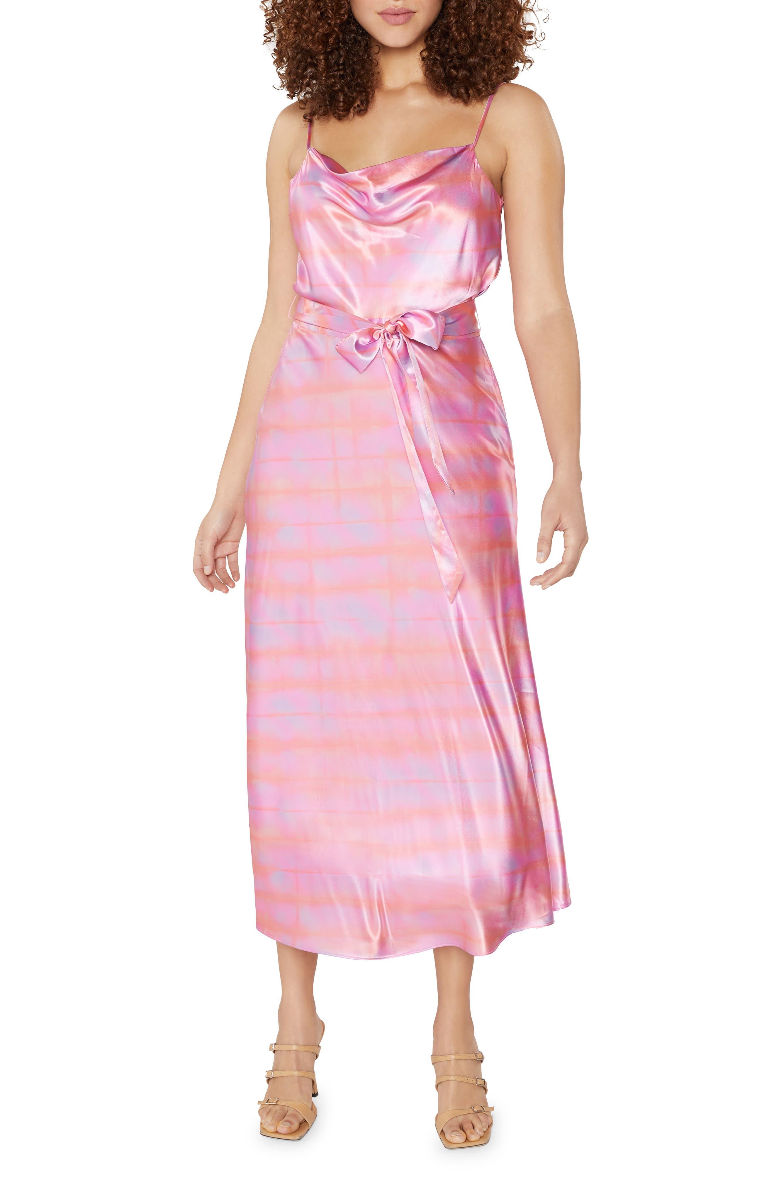 Vittoria Tie Dye Satin Midi Dress