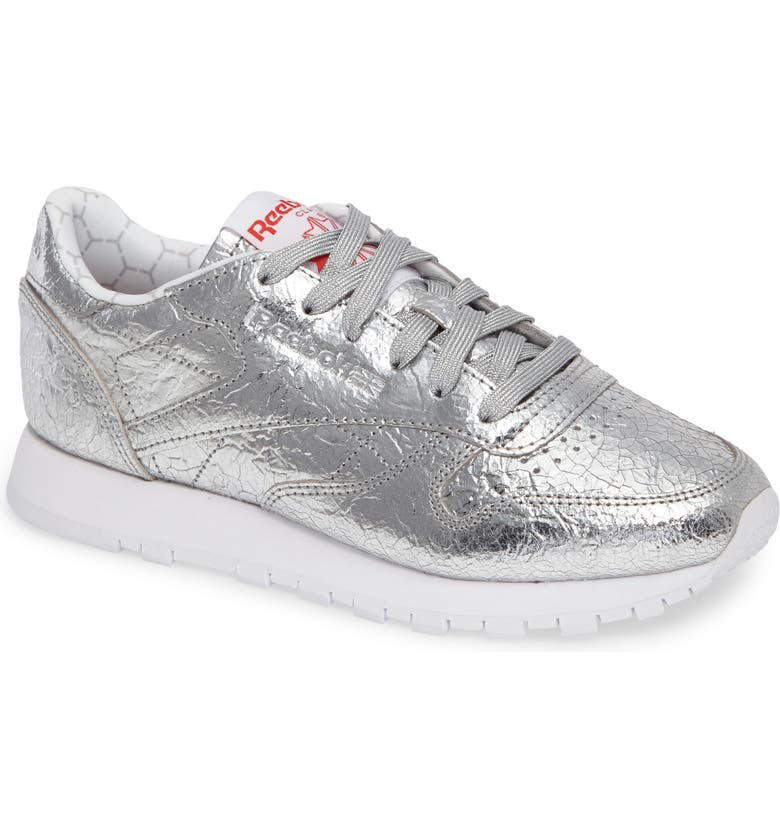 REEBOK Classic Leather HD Foil Sneaker, Main, color, 040