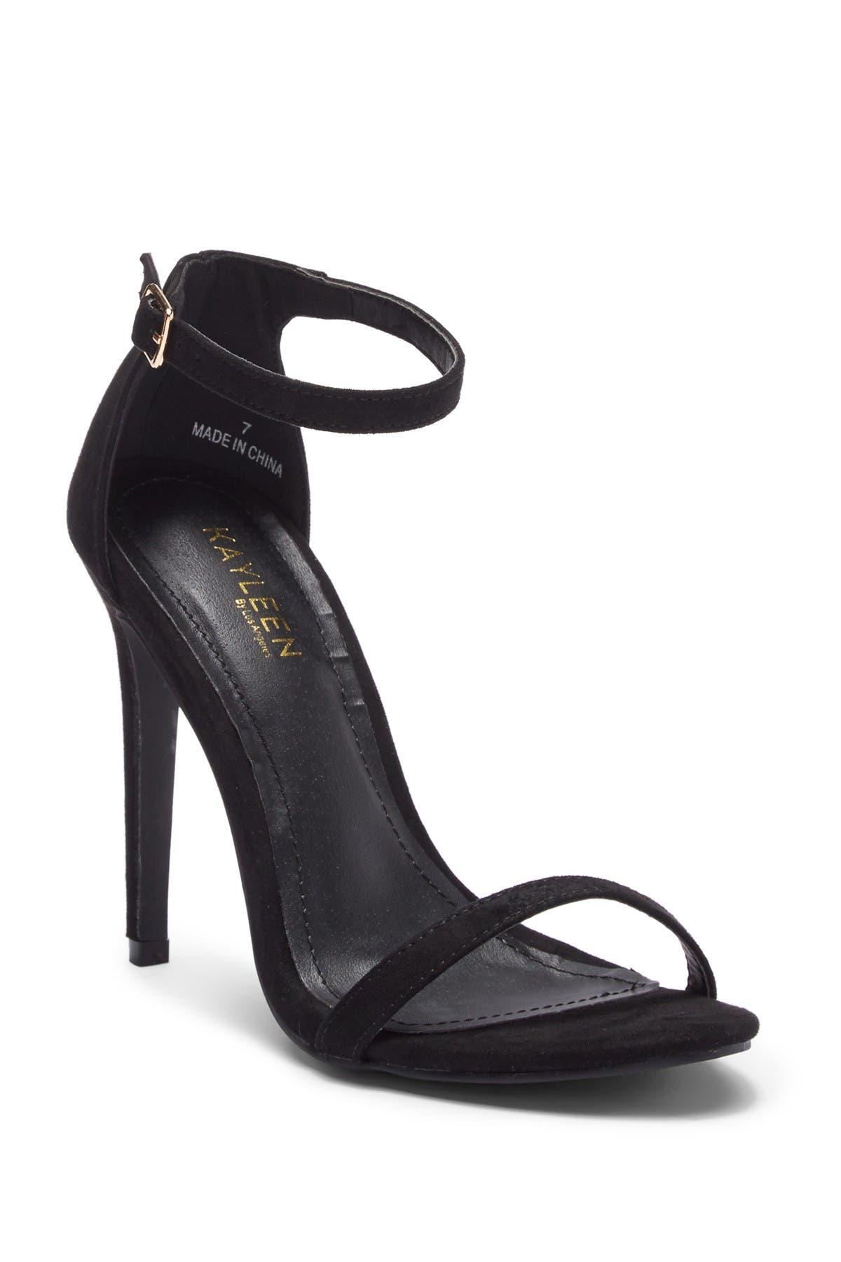 Image of Elegant Footwear Tobi Ankle Strap Stiletto