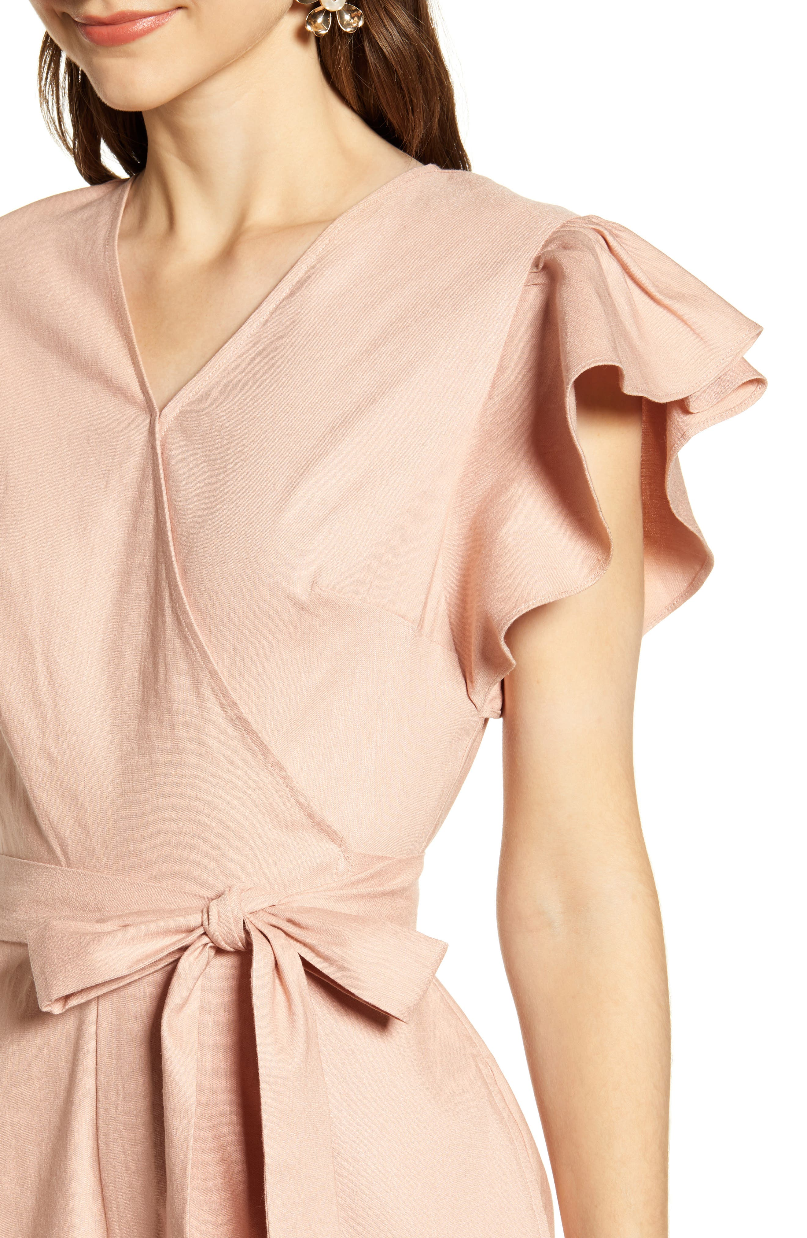 ,                             Ruffle Sleeve Jumpsuit,                             Alternate thumbnail 5, color,                             680