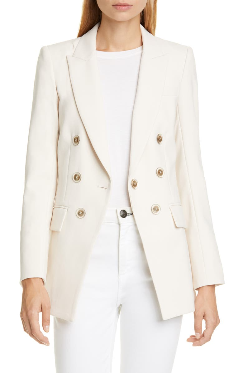 VERONICA BEARD Matteo Double Breasted Dickey Jacket, Main, color, IVORY