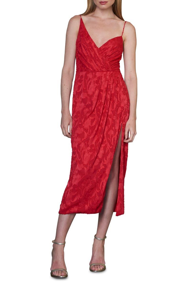 ML MONIQUE LHUILLIER Asymmetrical Neck Dress, Main, color, 623